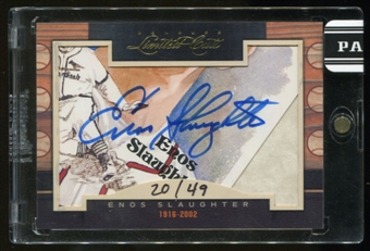 2011 Panini Donruss Limited Cuts 1 #114 Enos Slaughter Autograph 20/49