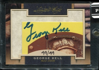 2011 Panini Donruss Limited Cuts 1 #136 George Kell Autograph /49 d.2009
