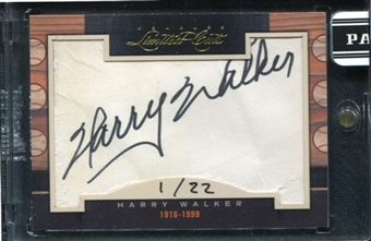 2011 Panini Donruss Limited Cuts 1 #165 Harry Walker Autograph /22 d.1999