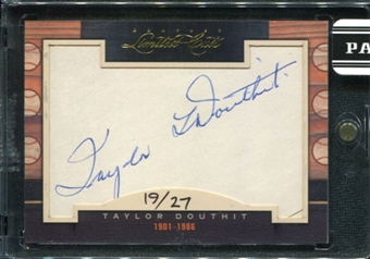 2011 Panini Donruss Limited Cuts 1 #306 Taylor Douthit Autograph /27 d.1986
