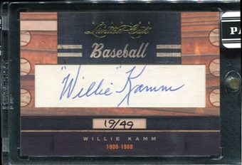 2011 Panini Donruss Limited Cuts 1 #343 Willie Kamm Autograph /49 d.1988