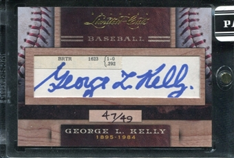 2011 Panini Donruss Limited Cuts 2 #137 George L. Kelly Autograph /49 d.1984