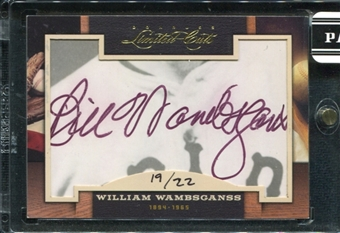 2011 Panini Donruss Limited Cuts 2 #342 William Wambsganss Autograph /22 d.1965