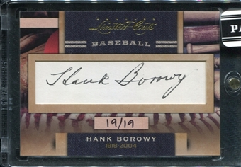 2011 Panini Donruss Limited Cuts 3 #157 Hank Borowy Autograph /19 d.2004