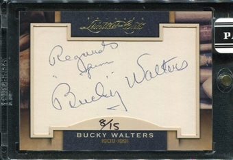 2011 Panini Donruss Limited Cuts 2 #44 Bucky Walters Autograph /15 d.1991