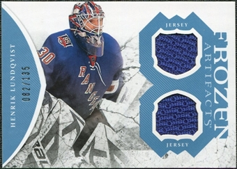 2011/12 Upper Deck Artifacts Frozen Artifacts Jerseys Blue #FAHL Henrik Lundqvist /135