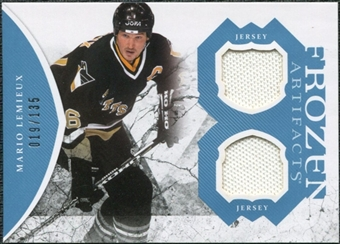 2011/12 Upper Deck Artifacts Frozen Artifacts Jerseys Blue #FAML Mario Lemieux /135