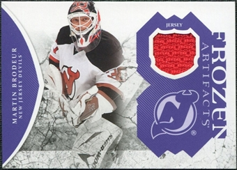 2011/12 Upper Deck Artifacts Frozen Artifacts Jerseys Purple #FAMB Martin Brodeur