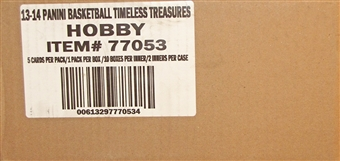 2013/14 Panini Timeless Treasures Basketball Hobby 20-Box Case