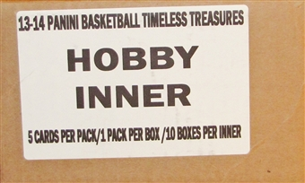 2013/14 Panini Timeless Treasures Basketball Hobby 10-Box Case