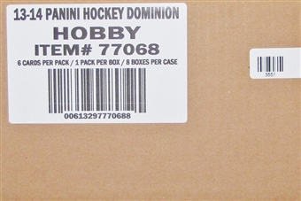 2013-14 Panini Dominion Hockey Hobby 8-Box Case
