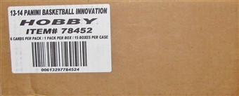 2013/14 Panini Innovation Basketball Hobby 15-Box Case