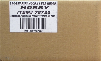 2013-14 Panini Playbook Hockey 12-Box Case - DACW Live 28 Spot Team Draft Style Break