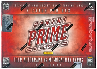 2013-14 Panini Prime Hockey Hobby Case - DACW Live 28 Spot Random Team Break #3