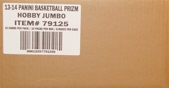 2013/14 Panini Prizm Basketball Jumbo 8-Box Case