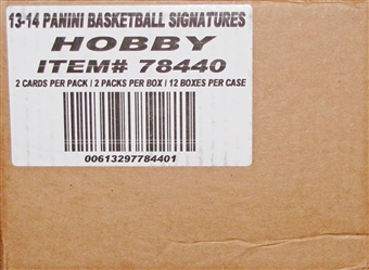 2013/14 Panini Signatures Basketball Hobby 12-Box Case