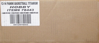 2013/14 Panini Titanium Basketball Hobby 16-Box Case