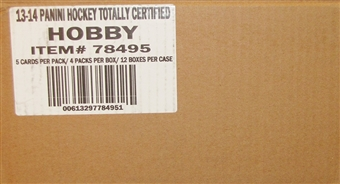 2013-14 Panini Totally Certified Hockey Hobby Case - DACW Live 30 Spot Random Team Break