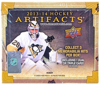 2013-14 Upper Deck Artifacts Hockey Hobby Box