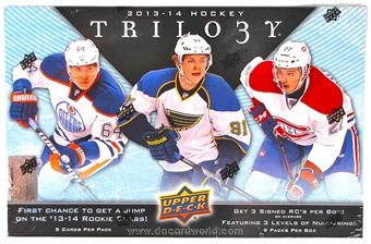 2013-14 Upper Deck Trilogy Hockey Hobby 8-Box Case - DACW Live 28 Spot Random Team Break