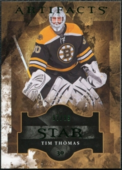 2011/12 Upper Deck Artifacts Emerald #151 Tim Thomas Star /99