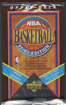 1991/92 Upper Deck Hi # Basketball Hobby 36 Pack Lot