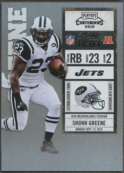 2010 Playoff Contenders #68 Shonn Greene Rookie Playoff Ticket #72/99