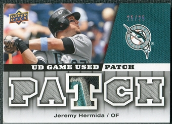 2009 Upper Deck UD Game Patch #GJJH Jeremy Hermida /25