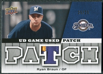 2009 Upper Deck UD Game Patch #GJRB Ryan Braun /25