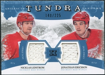 2011/12 Upper Deck Artifacts Tundra Tandems Jerseys Blue #TT2LE Nicklas Lidstrom / Jonathan Ericsson /225