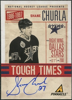 2011/12 Panini Pinnacle Tough Times Autographs #10 Shane Churla