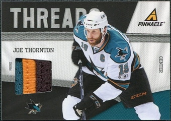 2011/12 Panini Pinnacle Threads Prime #13 Joe Thornton /50