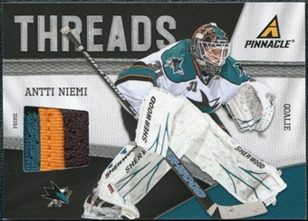 2011/12 Panini Pinnacle Threads Prime #34 Antti Niemi /50