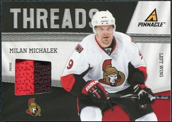 2011/12 Panini Pinnacle Threads Prime #68 Milan Michalek /50