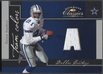 2005 Donruss Classics #4 Deion Sanders Team Colors Jersey #134/199