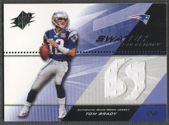 2004 SPx #SWTB Tom Brady Swatch Supremacy Jersey