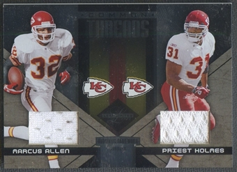 2005 Leaf Limited #CT18 Marcus Allen & Priest Holmes Common Threads Jersey #25/25