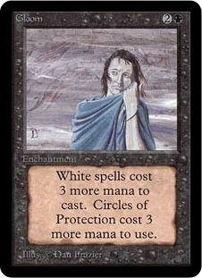 Magic the Gathering Alpha Single Gloom LIGHT PLAY (NM)