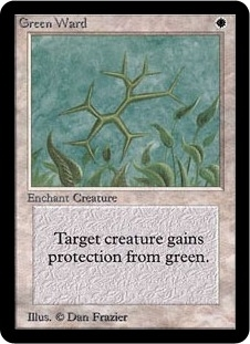 Magic the Gathering Alpha Single Green Ward - SLIGHT PLAY (SP)