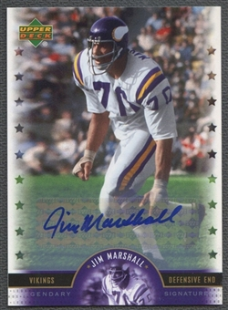 2005 Upper Deck Legends #JR Jim Marshall Legendary Signatures Auto