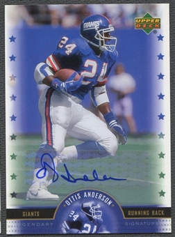 2005 Upper Deck Legends #OA Ottis Anderson Legendary Signatures Auto