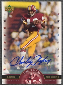 2005 Upper Deck Legends #CT Charley Taylor Legendary Signatures Auto