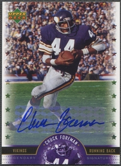 2005 Upper Deck Legends #CF Chuck Foreman Legendary Signatures Auto
