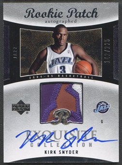 2004/05 Exquisite Collection #66 Kirk Snyder Rookie Patch Auto #142/225
