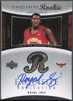 2004/05 Exquisite Collection #81 Royal Ivey Rookie Auto #038/225