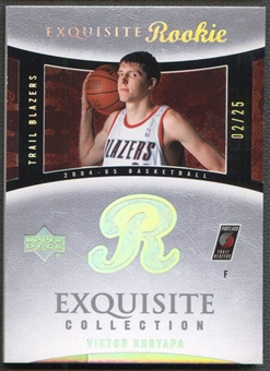 2004/05 Exquisite Collection #79 Viktor Khryapa Platinum Base Rookie #02/25