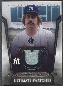 2004 SP Legendary Cuts #CH Catfish Hunter Ultimate Swatches Jersey