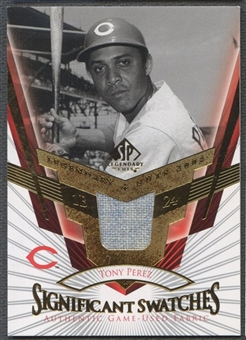 2004 SP Legendary Cuts #TP Tony Perez Significant Swatches Jersey