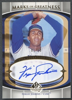 2004 SP Legendary Cuts #FJ Fergie Jenkins Marks of Greatness Auto #01/50