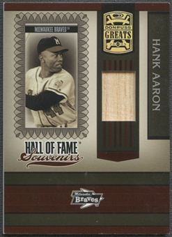 2005 Donruss Greats #2 Hank Aaron Hall of Fame Souvenirs Bat